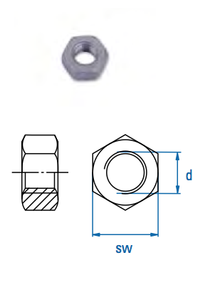 Sechskantmutter SEM M10 A2