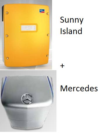 Sunny Island + Mercedes Serie 20 kWs+