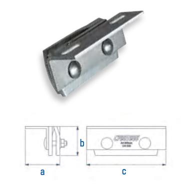 Stehfalzklemme mit L-Adapter Falzdachklemme CSC-S-L AI 110