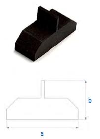 T-Stück für Module ohne Rahmen RUT AT FL
