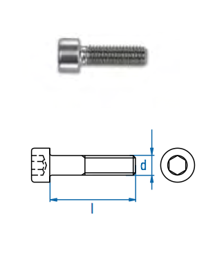Zylinderkopfschraube ZKS-I M8 x 40 A2
