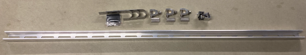 Balkonmontage Set für Photovoltaik-Module an runde und eckige Geländer