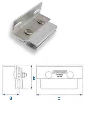 Rippenfalzklemme mit L-Adapter Falzdachklemme CSC-Z465-L AI 110