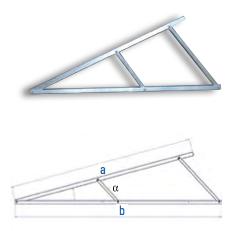 Flachdach-Dreieck 2300 25°/30