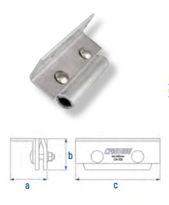 Rundfalzklemme mit L-Adapter Falzdachklemme CSC-R-L AI 100