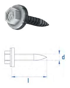 Dünnblechschraube Selbstbohrend DBS 5,5 x 25