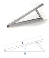 Flachdach-Dreieck 1100 15°/20
