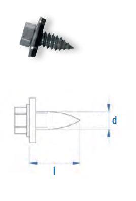 Reparatur-Blechschraube RBLS-D 7,2 x 19 V2A