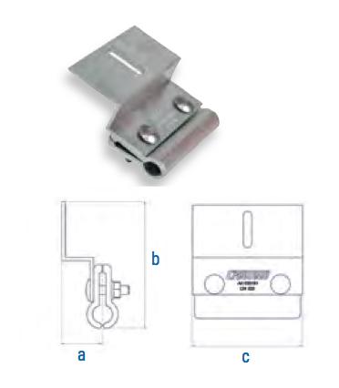 Rundfalzklemme mit Z-Adapter Falzdachklemme CSC-R-Z AI 110