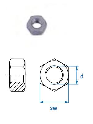 Sechskantmutter SEM M12 A2